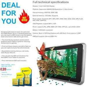 3G 7034 TABLET DEAL WITH FREE CALLING AND DATA SIM CARD  20 FREE CREDIT - <span itemprop='availableAtOrFrom'>London, United Kingdom</span> - Returns accepted Most purchases from business sellers are protected by the Consumer Contract Regulations 2013 which give you the right to cancel the purchase within 14 days after the day y - <span itemprop='availableAtOrFrom'>London, United Kingdom</span>