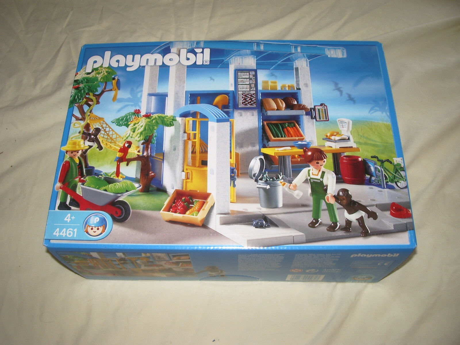 PLAYMOBIL  4461 STATION LOCAL scatola DE NOURRITURE SERIE ZOO NEUF  confortevole