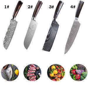 Acier Inoxydable couteaux de cuisine 3 pieces set-style japonais