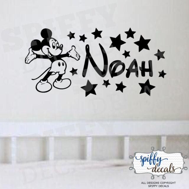 Personalised Name Disney Font /& Stars Vinyl Wall Art Sticker Decal MATT