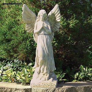Guardian angel statue memorial outdoor sculpture garden for Outdoor pool sculptures
