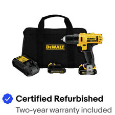 DEWALT DCD710S2R 12V MAX 3/8 in. Drill Driver Kit (1.5 Ah) Certified Refurbished