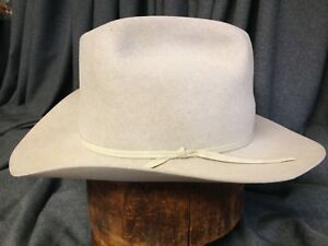 Vintage Resistol 4X FT Worth Silver Belly Mens Cattleman Cowboy Hat ... de8f96e3318