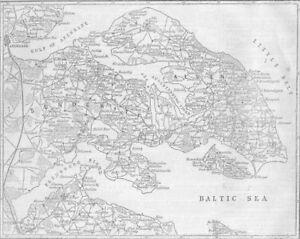Denmark Schleswig Holstein Seat Of War Denmark 1864 Map Ebay
