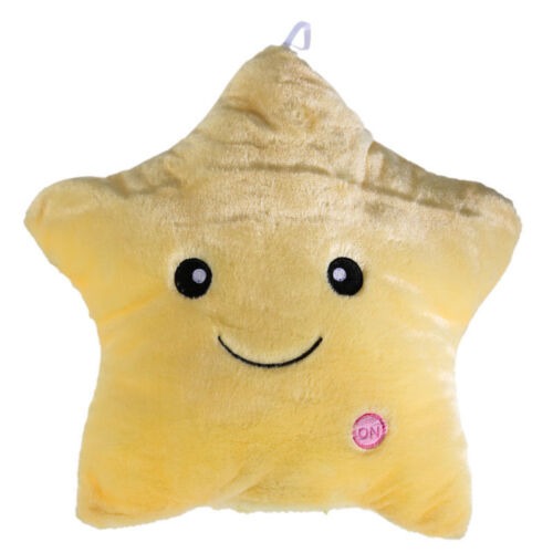 LED Light Star Stuffed Plush Cushion Sofa Pillow Glow Toy Gift Kids Home Decor