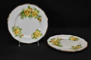 Royal-Albert-Tea-Rose-Yellow-Pair-of-Salad-Plates