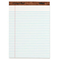 Tops the Legal Pad Ruled Perforated Pads 8 1/2 X 11 3/4 White 50 Sheets Dozen