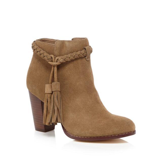Faith Beige Leather 'Suzi' High Boots UK7 EU40 RRP£65 JS02 72 SALEw