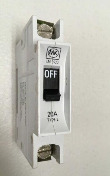 MK 15A Amp Mcb Circuit Breaker LN5915 Type 2 Bs3871 Trip Switch Fuse