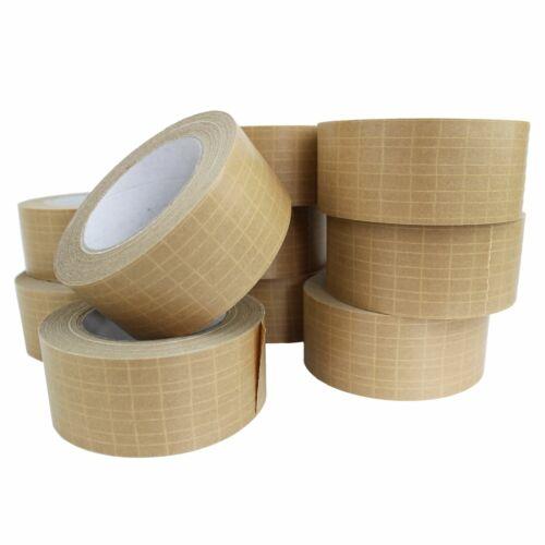 Auto-Adhesivo Reforzada extra fuerte 10 Rollos cinta de embalaje de papel de –50 Mm x 25 M