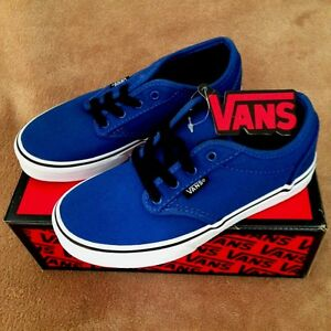 07ac1bba7ab5c4 Image is loading NEW-VANS-ATWOOD-CANVAS-SKATE-SHOE-BLUE-BLACK-