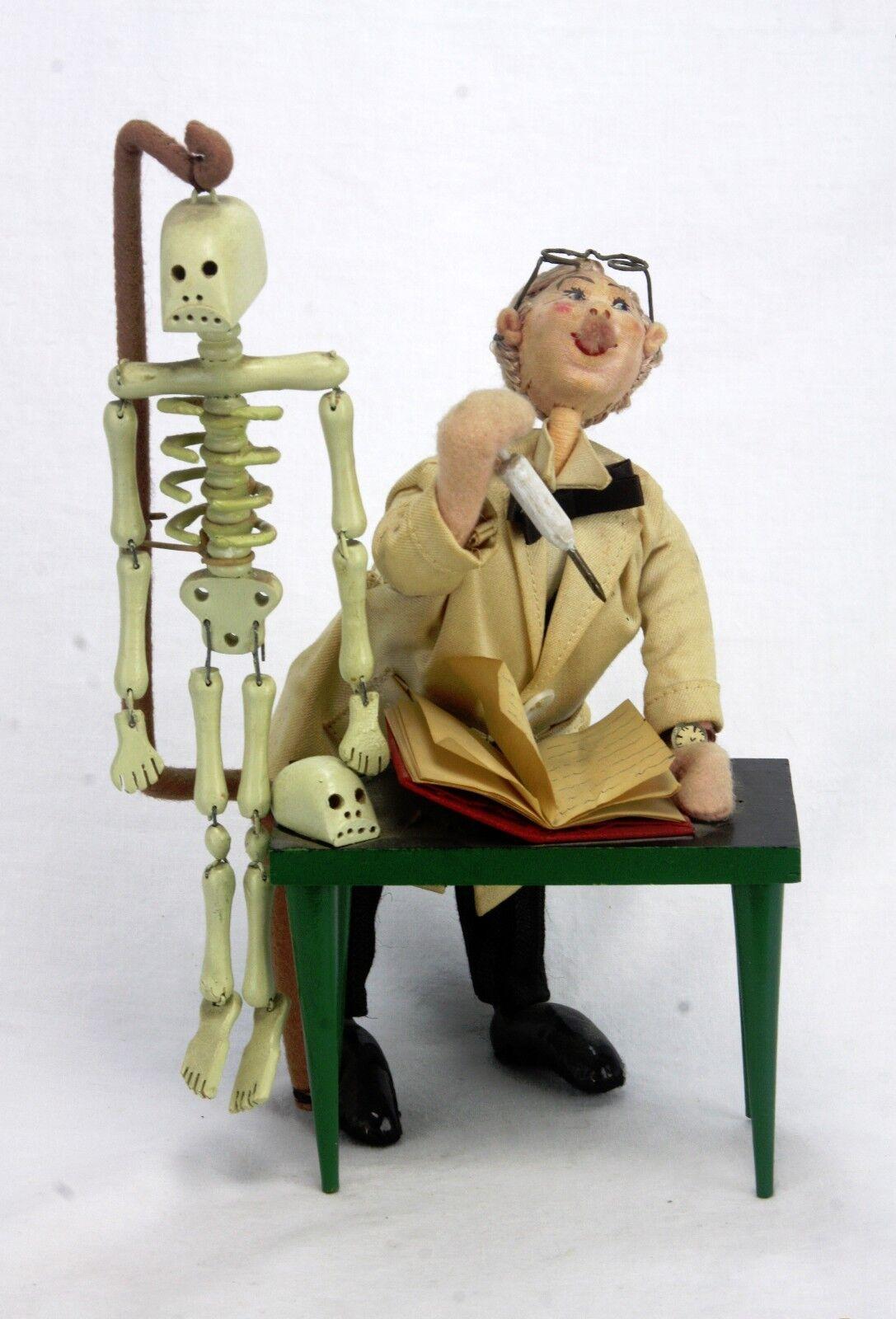 Vintage España Klumpe Roldan Muñeca profesor con esqueleto