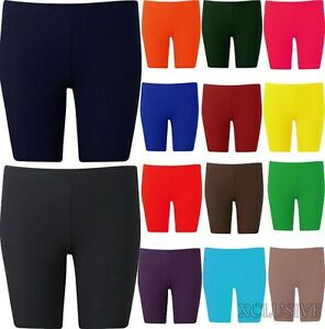 Womens-Plus-Size-Cycling-Shorts-Over-Knee-Length-Hot-Pants-shorts-Tights-16-26