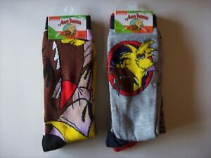Nickelodeon-Socks-Mens-2pk-Crew-The-Angry-Beavers-NIP
