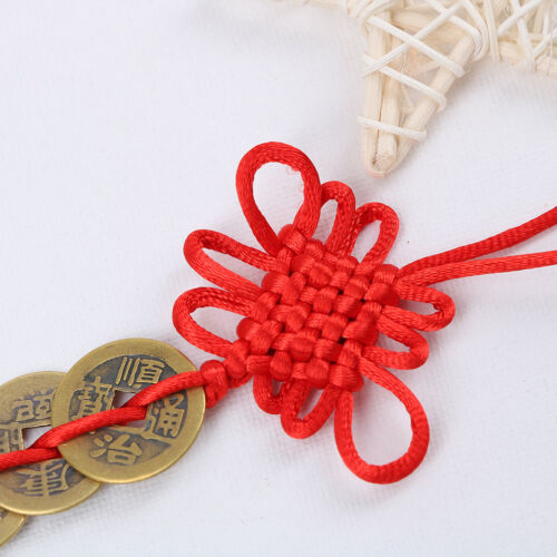 chinese feng shui lucky coins wealth 9 emperors coins home car hanging string  I