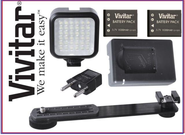 LED Light Kit Set With Battery & Charger For Panasonic Lumix DMC-LX100 DMC-GF7