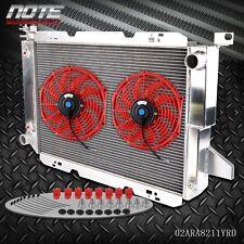 "U 3 Row Aluminum Radiator +12"" Fan For 185-96 FORD F-150/F-250/F SUPER DUTY V8"