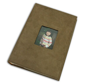 Photo-Album-Holds-300-4x6-pictures-3-per-page-Suede-Cover-Brown