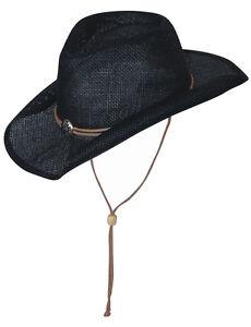 Strohhut-Hut-Country-Westernhut-Cowboyhut-Schwarz-Scippis-SUNNY-Black