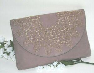 ELAINE-TURNER-Beth-Blush-Pink-Suede-Nubuck-Leather-Beaded-Clutch-Purse