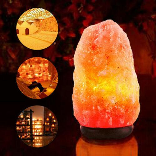 Himalayan Salt Lamp 100/% Pink Crystal Natural Ionizing Healing Rock Salt Lamp