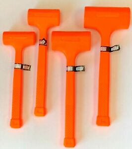 1-2-3-4-LB-Dead-Blow-Hammer-Neon-Orange-Spark-and-Rebound-Resistant