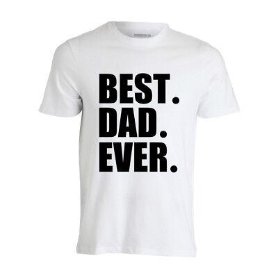"maglietta t-shirt ""BEST DAD EVER"" per uomo simpatica taglie varie MAGLIA"