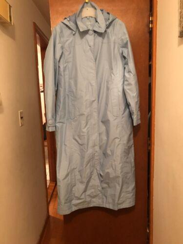 LL Bean Women's Full Lenght  Hooded Trench Rain Co