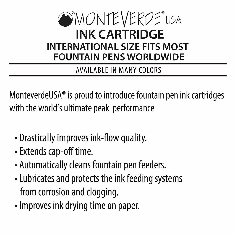 Black 6-pack G302BK International Size Monteverde Ink Cartridge Refills