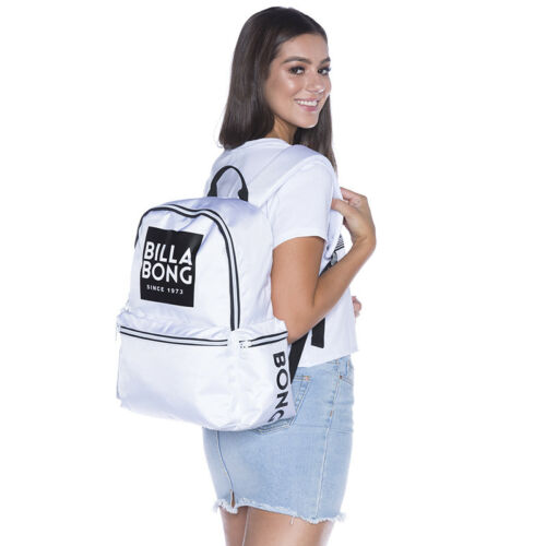 e38f732307f 3 of 5 New + Tag Billabong  statement  Backpack School Gym Bag 22L White  Womens Girls