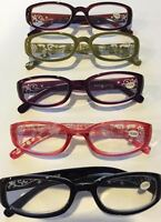 2 Pair / $6.99 Reading Glasses Solid Colors W/ Fancy Arms - +1.00 - +3.50