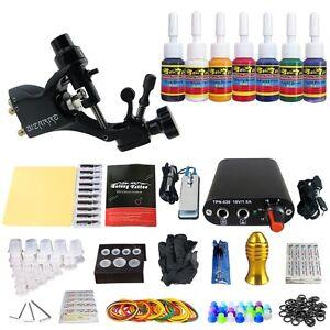 Solong Tattoo Set Professional Rotary Tattoo Kits Power Supply TK105 ...