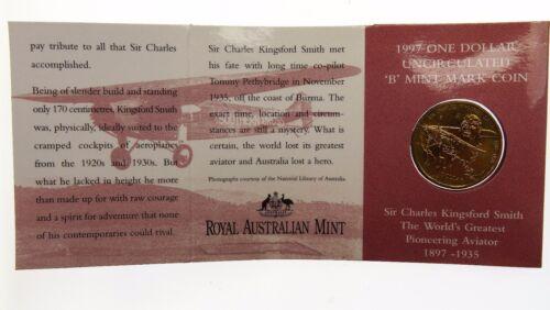 1997 Sir Charles Kingsford Smith One Dollar B Mint Mark Coin