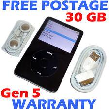 Apple IPOD CLASSIC - 5th Generation / 5G - 30GB - Black - NEW Housing + Battery!