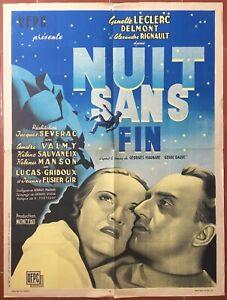 Affiche-NUIT-SANS-FIN-Jacques-Severac-GINETTE-LECLERC-Alexandre-Rignault-60x80cm