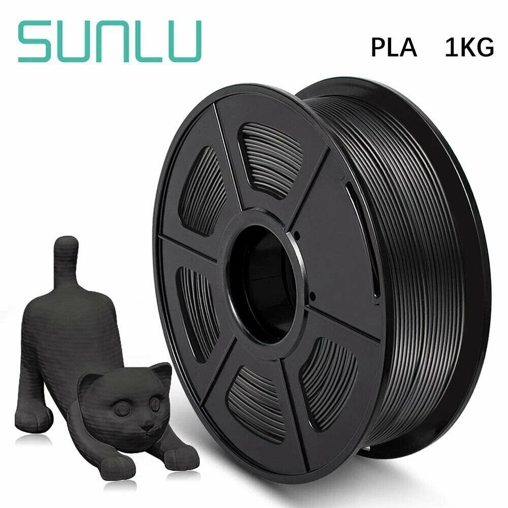 Filament 3D PLA 1,75mm noir SUNLU 1kg - Filament imprimante 3d NEUF