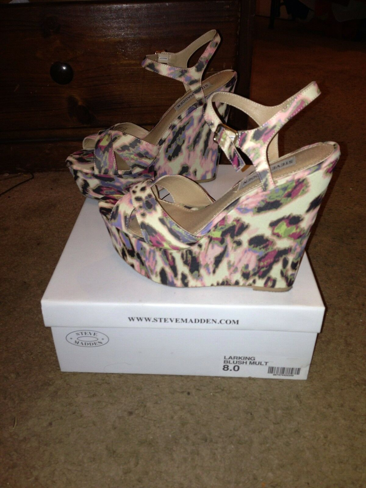 Steve Madden Larking Blush Multi Wedges