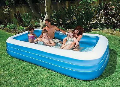 """BESTWAY INFLATABLE SWIM CENTER FAMILY KIDDIE WADDING PLAY SWIMMING POOL 120""""x72"""""""