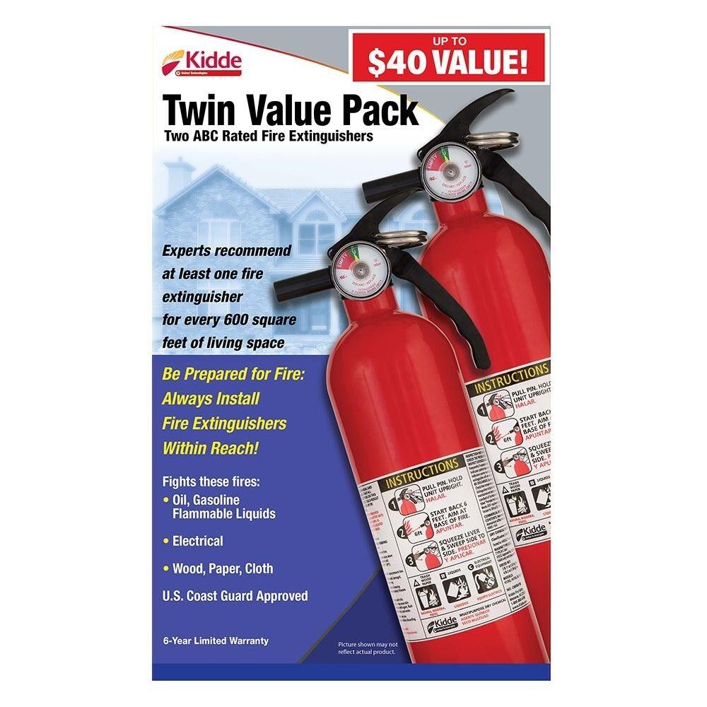 3.9 Lb Recreational Fire Extinguisher 2 Pack Kidde Non