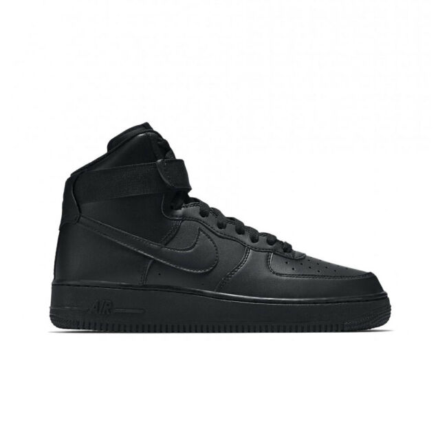 newest 123e6 5c732 Nike Air Force 1 High 07 All Black Af1 Men Lifestyle Casual SNEAKERS ...
