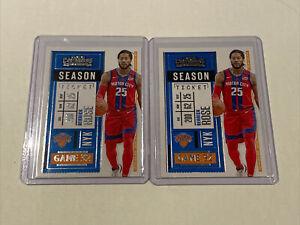 2021 Panini Contenders Derrick Rose Season Ticket Base Card Lot #27 Knicks