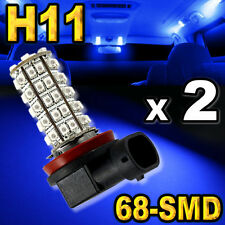 2 Blue 9006 HB4 68-SMD LED Bulbs For Driving Fog Light #A68