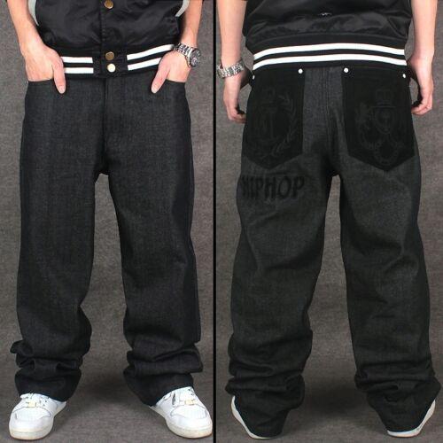 da Jeans ballo Pantaloni Pantaloni Harem uomo da Hop Pantaloni denim larghi in nuovi Hip larghi qzzwgBv4E