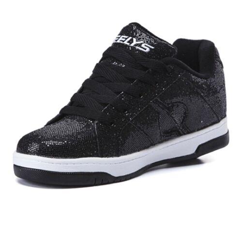 Heelys Split Girls Trainer shoes Black Disco Glitter 770971H