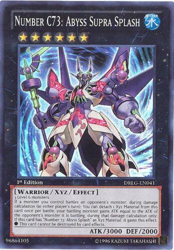 NUMBER C73: ABYSS SUPRA SPLASH DRLG-EN041 super rare holo Yu-Gi-Oh Card