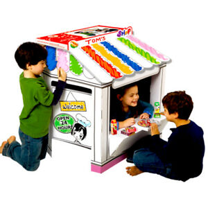 Details about Cardboard Playhouse Shop for Creative Coloring