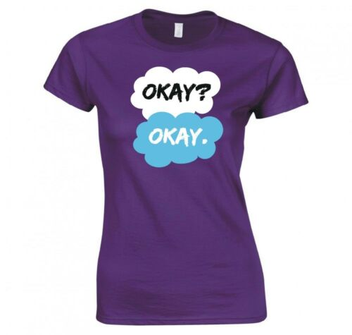 """THE FAULT IN OUR STARS /""""OKAY OKAY/"""" LADIES T-SHIRT NEW"""