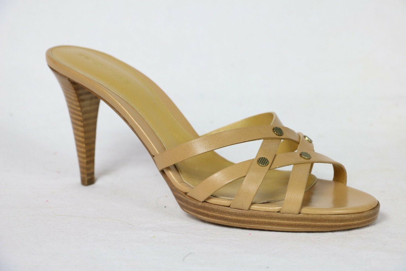 Sergio Rossi schuhe platform heels heels pumps tan leather leather leather 10 40 45f86f