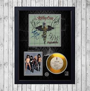 MOTLEY-CRUE-DR-FEELGOOD-CUADRO-CON-GOLD-O-PLATINUM-CD-EDICION-LIMITADA-FRAMED