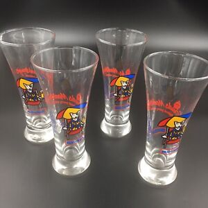 Spuds-MacKenzie-The-Original-Party-Animal-4-Glasses-Set-Bud-Light-Pilsner-Beer